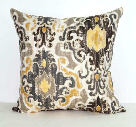 Gray Couch Pillows: Damask Pillow Torol Sterling Decorative By LandofPillowsDotCom