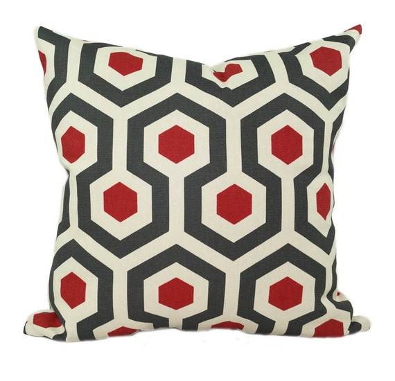 Red And Gray Throw Pillows