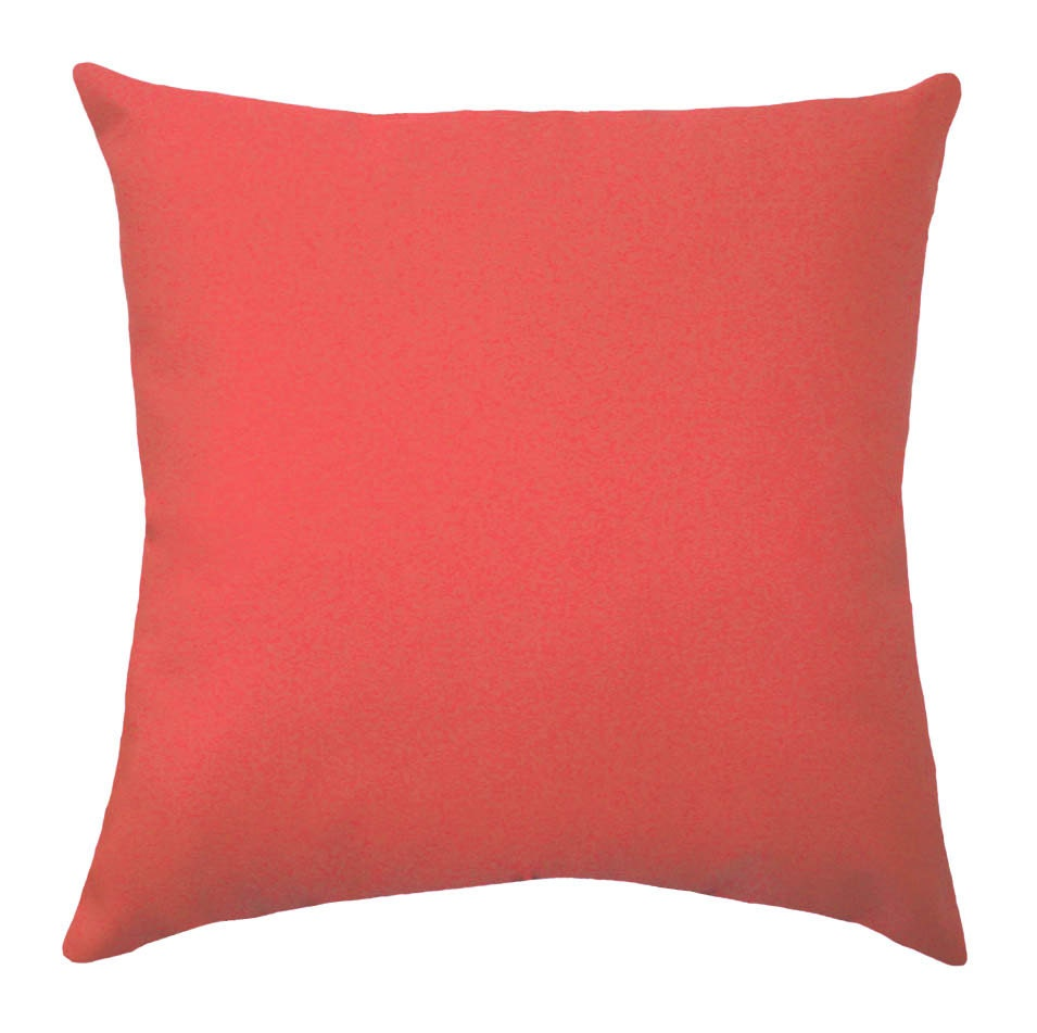 Solid Coral Throw Pillow Coral STUFFED Throw Pillow Solid