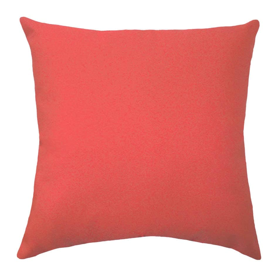 Throw Pillows Coral : Solid Coral Throw Pillow Coral STUFFED Throw Pillow Solid