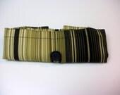Fold Up Fabric Tote Bag - Shopping Bag - Replaces Plastic Bags - Eco Friendly - Stripes - Khaki, Olive, Sage, Black