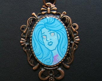 Creatures of the Night OPERA GHOST 38 x 50 mm Copper Necklace