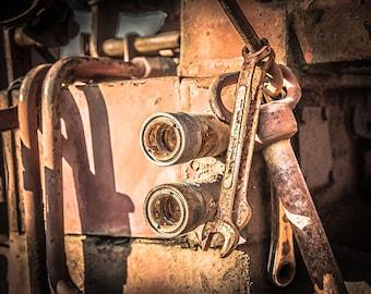 Rustic Farm Tractor #2 - Rustic Wall Art, Grunge, Tractor Art, Decay, Rustic Country, Photography, Rustic Decor, Farm, Farmall, John Deere