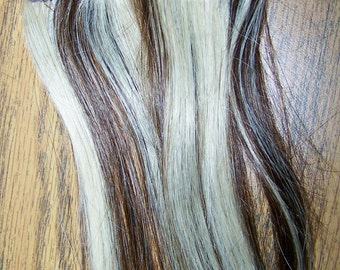 Clip in Remy Human Hair Extension, Highlite Lowlite Hair Extension, Blonde Hair Extension, Brown Hair Extension, Clip On Hair Extension