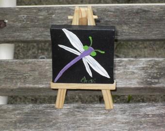 Original Dragonfly Painting mini/ OOAK
