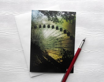 Ferris Wheel Card Stationery Carnival Photography Montreal Art Greeting Card Note card Canadian Seller 5x7 Photo Card - Quest for Wonder