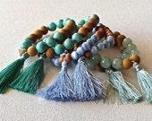 tassel bracelet - Indian silk tassel - sandalwood - bohemian