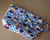 all-purpose small wetbag - wipes bag - cosmetic bag - wristlet pouch in bangle dot blue