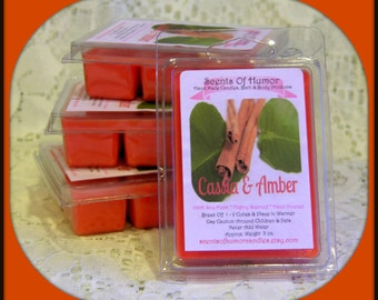 CASSIA & AMBER Scented Soy Wax Melts - Tarts - Wickless Candle - Asian - Patchouli - Spice -  Air Freshener - Highly Scented - Hand Made