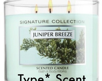 JUNiPER BREEZE BBW Type* Scented Soy Wax Melts - Soy Tarts - Soy Flameless Candle - Highly Scented -  Handmade & Poured In USA
