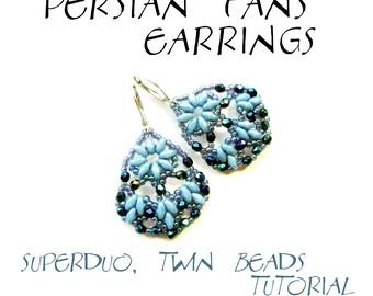 TUTORIAL - earrings - PERSIAN FANS - instant download