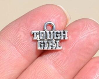 1  Silver Tough Girl Charm SC2058