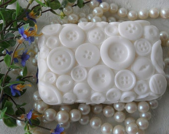 Button Soap Handcrafted Soap