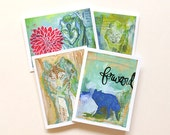 Wolf Pack - Greeting Cards - Set of 4