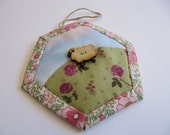 Sheep in the Meadow hanging ornament