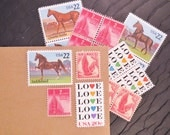 For the LOVE of ..  Horses ..  UNused Vintage Postage Stamps  .. post 5 letters
