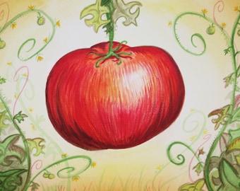 Creole Tomato original watercolor New Orleans