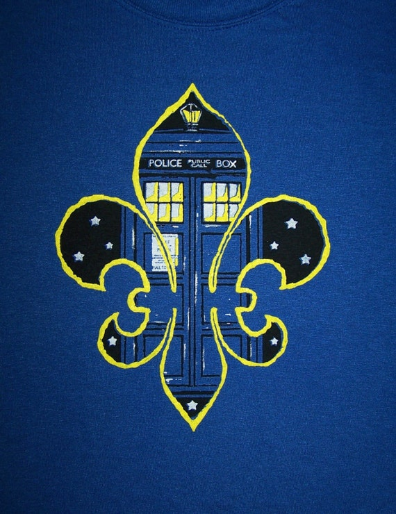 Doctor who new orleans screenprint t shirt dr who by ubatuber for Shirt printing new orleans