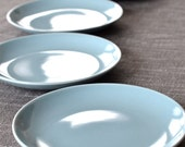 Russel Wright Iroquois Bread & Butter Plates - 4 Ice Blue