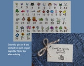 Personalized knitting gift  tags