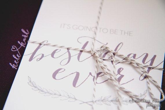 Best Wedding Invitations Ever: Best Day Ever Printed Wedding Invitation & RSVP Sample