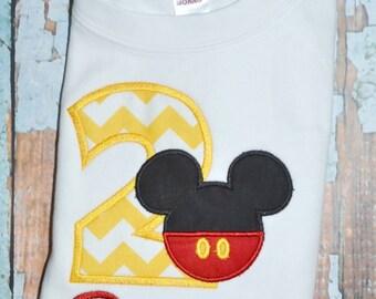 Chevron Mickey Mouse Birthday Shirt, Mickey Mouse Pants Shirt, Boys Birthday Shirt, Boys Mickey Mouse Shirt