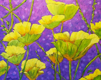 Magical Light Original Abstract Floral Oil Painting Created by Prankearts