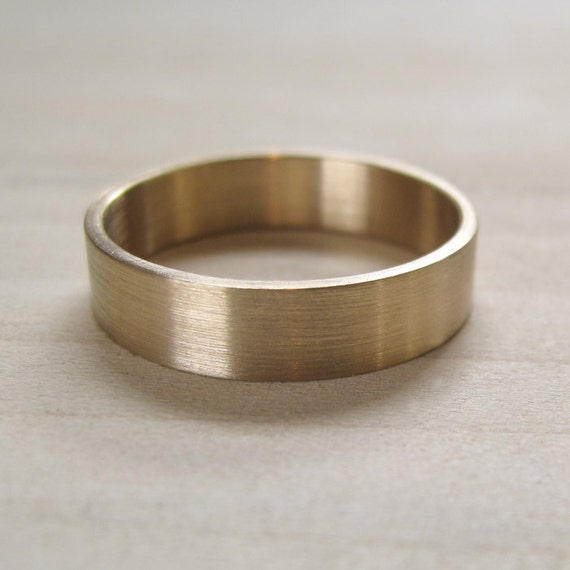 5x1mm Flat Mens Wedding Band Recycled Eco Friendly
