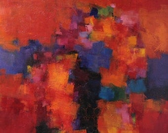 November 2013 - 1 - Original Abstract Oil Painting - 72.7 cm x 72.7 cm (app. 28.6 inch x 28.6 inch)