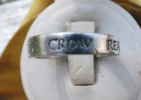 The Crow Real Love is Forever Mens Wedding Ring