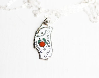 State Charm Necklace - California