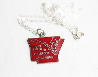 State Charm Necklace - Arkansas
