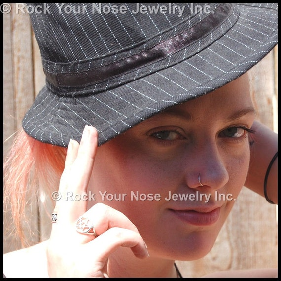 Silver Nose Ring/Sterling Nose Hoop/Dainty Nose Ring/Nickel Free Jewelry/24G/22G/20G/18G/Simple Nose Ring/Seamless Nose Ring/ - CUSTOMIZE