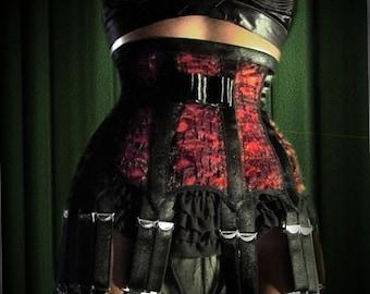 Dark Ladies Wear  MARLENE Antique Lace 16 Strap Suspender Garter  Belt