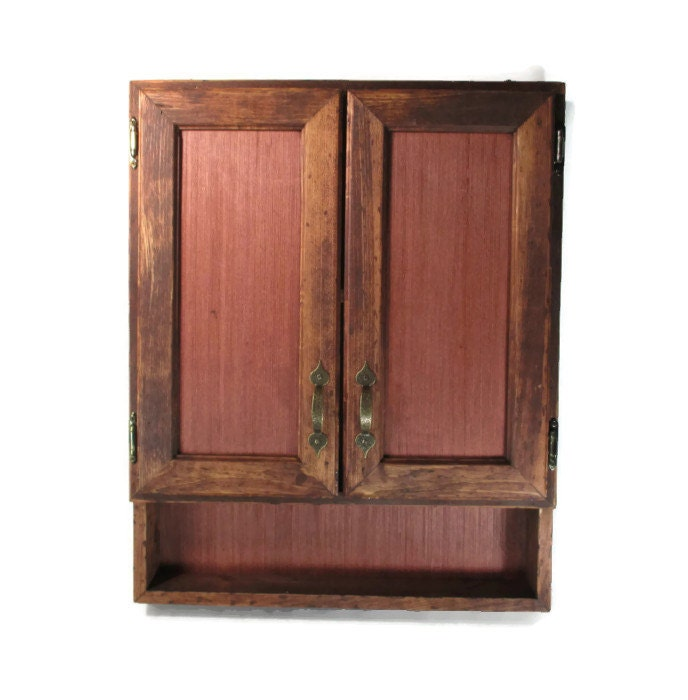 Rustic furniture wood cabinet red oak office or kitchen