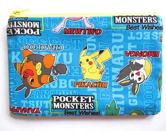 Pencil/Cosmetics Case - Pocket Monsters, Pikachu, Emonga, Best Wishes, Animie, Manga, Nintendo