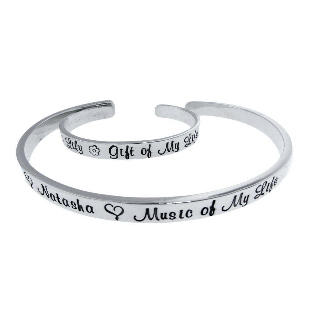 mother daughter matching bracelets mother son cuff set On mother son matching jewelry