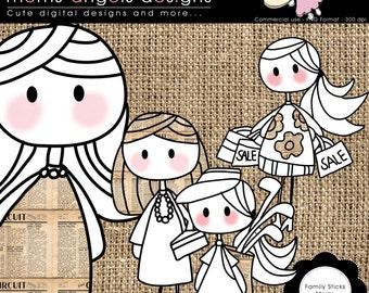 Family Sticks - Moms COMMERCIAL USE OK