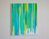 """Color Theory II """"Blue/Green"""" -16x20 inch Original Oil Painting on Canvas"""