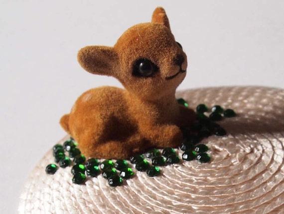 Bambi fascinator - deer fascinator - spring hair clip - fun fascinator - fawn har accessory - spring wedding accesory