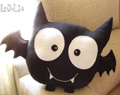 Reserved for Jade - Bat Boy CUSHION -Decorative plush pillow -