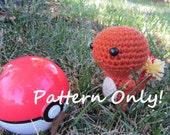 PATTERN - Crochet - Chibi Pokemon Amigurumi - Charmander