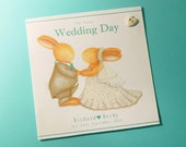 Personalised Wedding Card – Bobby and Bella Country Wedding Card - Bobby Bunny and Friends Illustrated Luxury Card Range by Jennifer Keelan