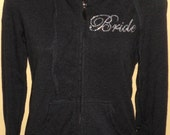 Comfy Bride Rhinestone Zip-Up Hooded Sweater - LIMITED AMOUNT AVAILABLE