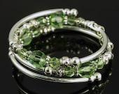 August Birthstone - Embraceling - Peridot Swarovski Crystal