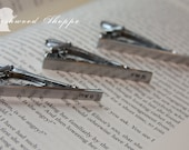 Customized Monogramed Tie clip, tack. Personalized with any 3 letters. Groomsmen gift