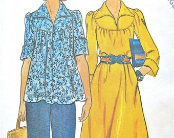 1970s Butterick 4126 Dress and Top Pattern