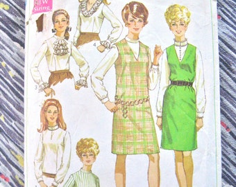 Vintage 60's Simplicity 7765 sewing pattern  Bust 34""