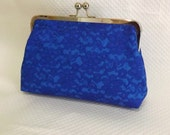 Bridal Clutch - Wedding Clutch - Royal Blue Bridal Clutch - Lace Clutch - Bridesmaids Clutch - Isabella Clutch