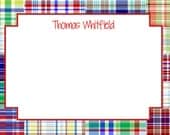 Madras Plaid Stationery, Notecards, or Invitation Set